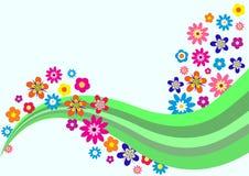 Cartão do vetor com flores Fotos de Stock Royalty Free