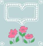 Cartão do vetor com flores Fotos de Stock