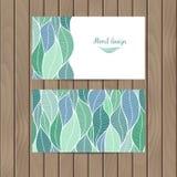 Cartão do vetor com a textura das folhas Imagens de Stock Royalty Free