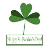 Cartão do vetor do dia do ` s de St Patrick ilustração stock