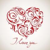 Cartão do vetor do dia do Valentim feliz Fotos de Stock