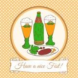 Cartão do vetor do festival da cerveja Fotos de Stock Royalty Free