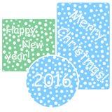 Cartão do vetor do Natal e do ano novo Imagem de Stock Royalty Free