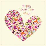 Cartão do vetor do Valentim Fotografia de Stock Royalty Free