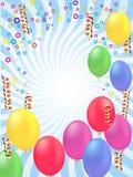 Cartão do vetor dos balões ilustração royalty free