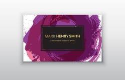 Cartão do vetor Projeto de cartão luxuoso Fotos de Stock