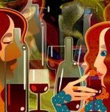 Cartão do vinho Imagem de Stock