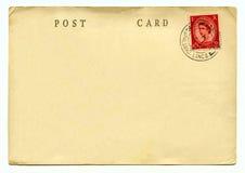 Cartão do vintage fotos de stock