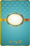 Cartão do vintage com emblema do ouro Fotos de Stock Royalty Free