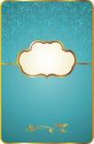 Cartão do vintage com emblema do ouro Fotografia de Stock