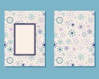 Cartão do vintage com flocos de neve ilustração do vetor