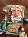 Cartão do vintage com ornamento velhos Fotografia de Stock
