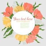Cartão do vintage com ramalhete das flores Fotos de Stock Royalty Free