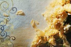 Cartão do vintage com rosas amarelas Imagem de Stock Royalty Free