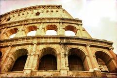 Cartão do vintage de Coloseum em Roma Fotos de Stock Royalty Free