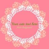 Cartão do vintage do convite com teste padrão floral Foto de Stock