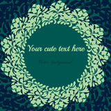 Cartão do vintage do convite com teste padrão floral Imagens de Stock