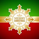 Cartão do vintage do floco de neve do Natal ilustração do vetor
