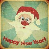 Cartão do vintage do Natal com Papai Noel Imagens de Stock Royalty Free