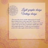 Cartão do vintage do vetor Lugar para seu texto Imagens de Stock Royalty Free
