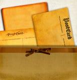 Cartão do vintage no envelope Imagem de Stock Royalty Free