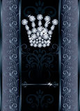 Cartão do VIP da coroa de Diamond Queen Imagem de Stock Royalty Free