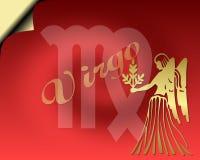 Cartão do Virgo Imagem de Stock Royalty Free