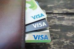 Cartão do cartão visa e o mestre imagem de stock royalty free