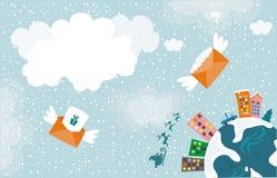 Cartão do Xmas Fotos de Stock