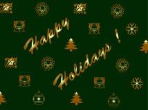 Cartão do Xmas e do ano novo Fotografia de Stock