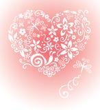 Cartão doce com um coração ilustração stock