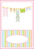 Cartão dos acessórios do bebê Imagens de Stock Royalty Free
