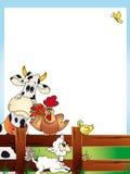 Cartão dos animais ilustração stock