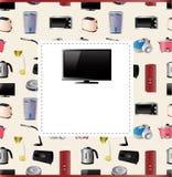 Cartão dos aparelhos electrodomésticos Imagens de Stock