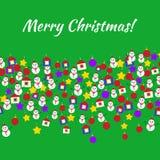 Cartão dos brinquedos do Feliz Natal Foto de Stock Royalty Free