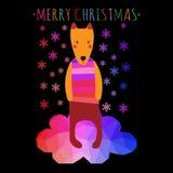Cartão dos christmass do cumprimento Foto de Stock Royalty Free