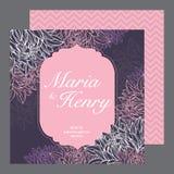Cartão dos convites do casamento Fotografia de Stock Royalty Free