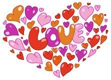 Cartão dos corações ilustração stock
