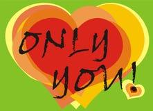 Cartão dos corações Fotos de Stock