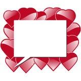 Cartão dos corações Imagem de Stock