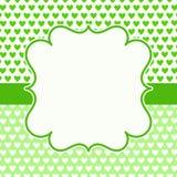 Cartão dos corações do dia de pais Fotografia de Stock Royalty Free