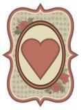 Cartão dos corações do pôquer do casino do vintage, vetor Foto de Stock