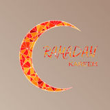 Cartão dos cumprimentos da ramadã com lua ilustração stock