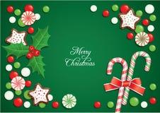 Cartão dos doces do Natal ilustração do vetor