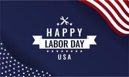 Cartão dos EUA do Dia do Trabalhador ilustração do vetor