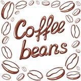 Cartão dos feijões de café Imagens de Stock Royalty Free