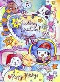 Cartão dos feriados de inverno Imagens de Stock