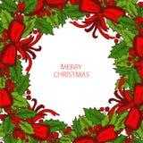 Cartão dos feriados de inverno Fotografia de Stock Royalty Free