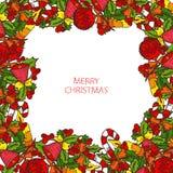 Cartão dos feriados de inverno Imagens de Stock Royalty Free