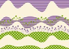 Cartão dos montes da flor do coração Imagens de Stock Royalty Free